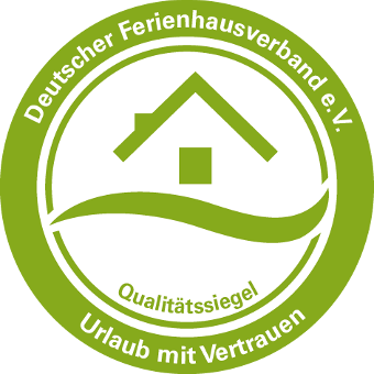 We are inspected and certified by the Deutschen Ferienhausverband e.V. (German holiday house association)